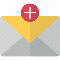add, email, envelope, mail, message, packet icon