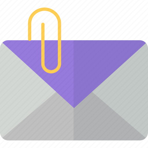 attach, email, envelope, letter, mail, packet icon