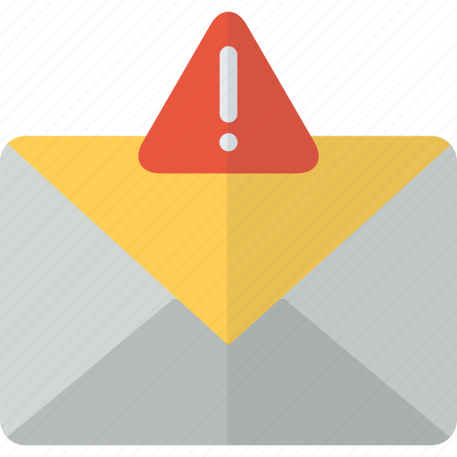 attention, communication, envelope, error, mail, message, packet icon