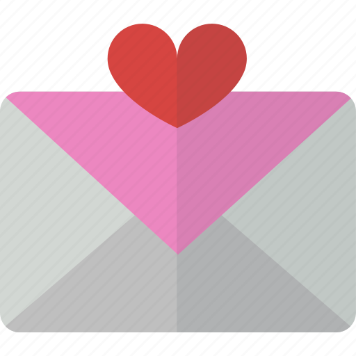 favorite, like, love, mail, message, packet icon