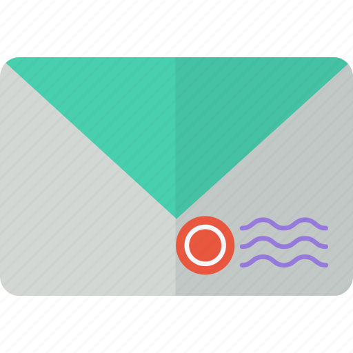 communication, envelope, letter, mail, packet, post, stamp icon