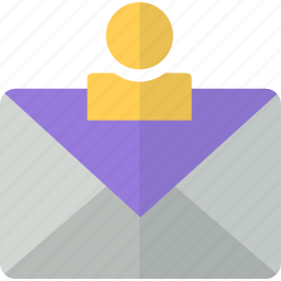 account, letter, mail, message, packet, user icon