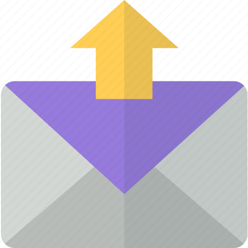 envelope, export, mail, packet, post, send icon
