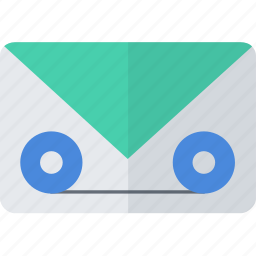 communication, mail, message, packet, voicemail icon