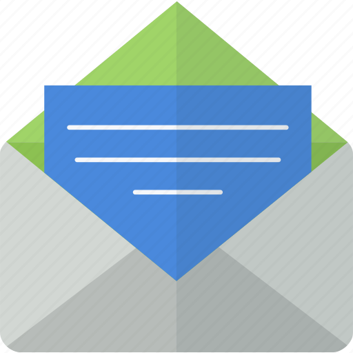 document, email, letter, mail, packet, paper icon