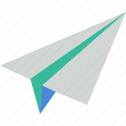 communication, fly, mail, message, paper, paperplane icon