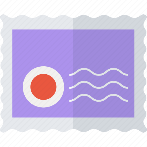 communication, letter, mail, post, send, stamp icon