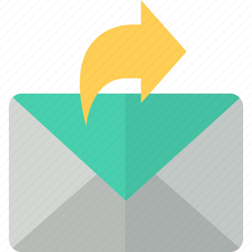 communication, envelope, forward, mail, packet, post, send icon
