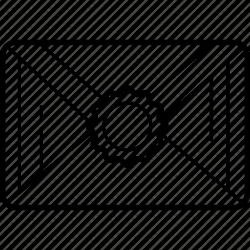 envelope, letter, mail, message, packet, secret icon
