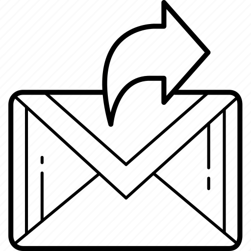envelope, forward, letter, mail, message, packet icon