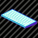 keyboard, key, keypad, computer, isometric icon