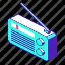 radio, device, technology, music, audio icon
