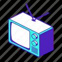 tv, television, technology, vintage, old