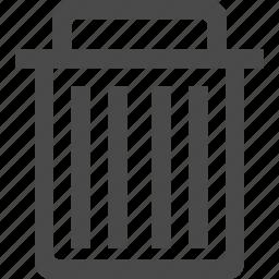 basket, delete, garbage, recycle, remove, trash icon