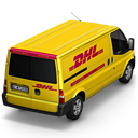 back, dhl icon