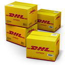 dhl, shipping icon
