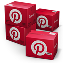 pinterest, shipping icon