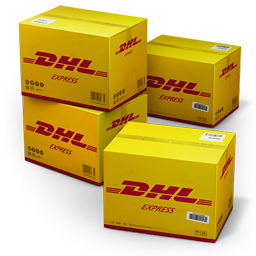 dhl, shipping icon