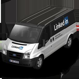 front, linkedin icon