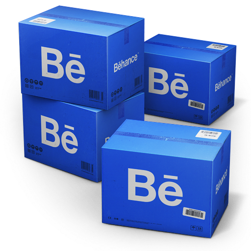 behance, shipping icon