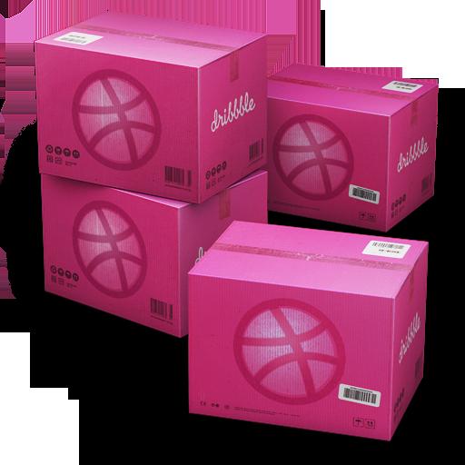 dribbble, shipping icon