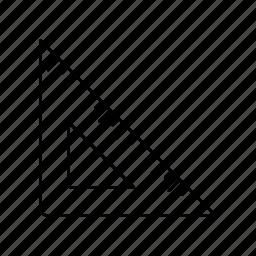 design, ruler, set square, set-square, tools, triangle, triangles icon