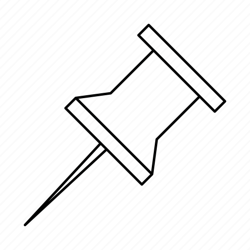 drawing pin, marker, pin, pointer, thumbtack icon