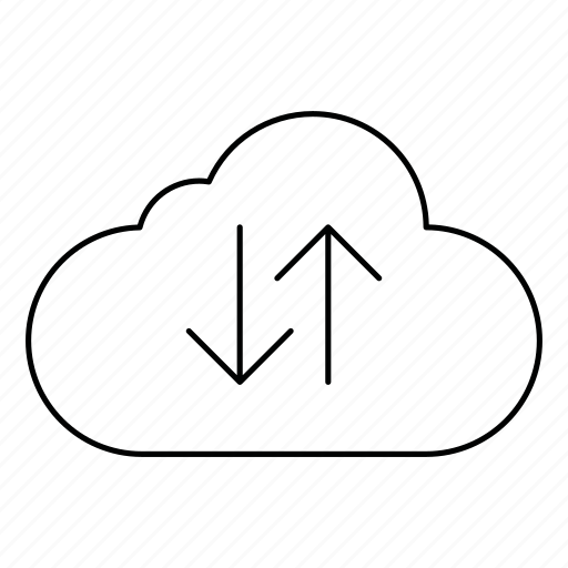 cloud, data, download, network, server, storage, upload icon