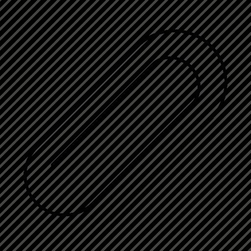 attach, attachment, clip, paper clip, paperclip, staple icon