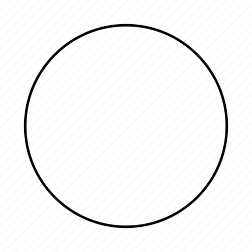 circle, circular, circumference, girth, round, shape icon