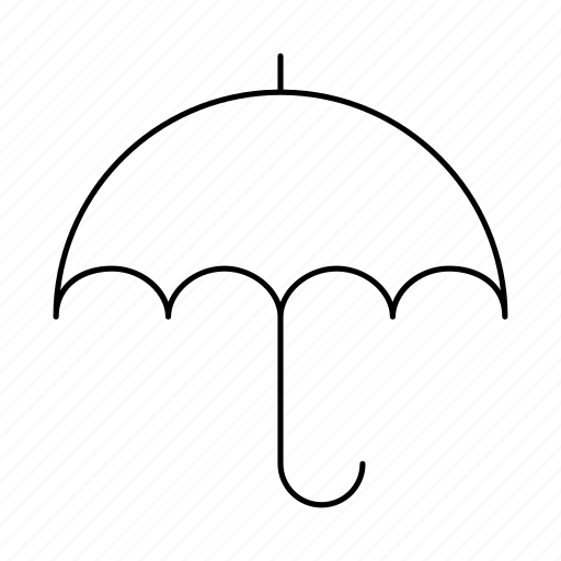 brolly, rain, umbrella icon