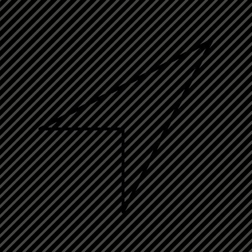 arrow, cursor, indicator, location, navigation, pointer icon