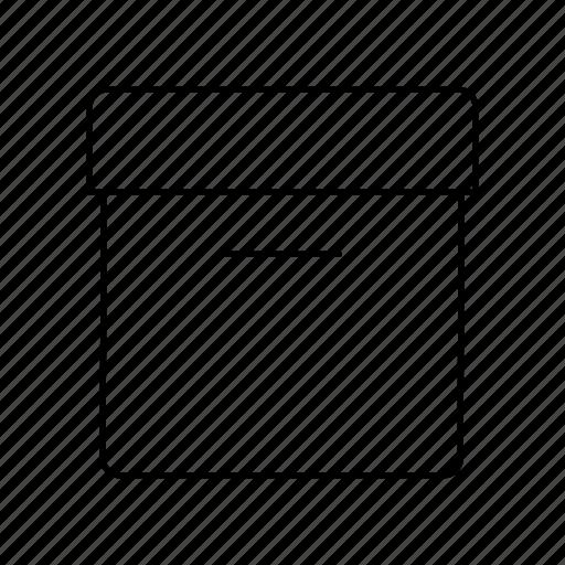 box, carton, case, data, database, package, storage icon
