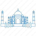 architecture, building, iconic, india, mausoleum, taj mahal, yamuna icon
