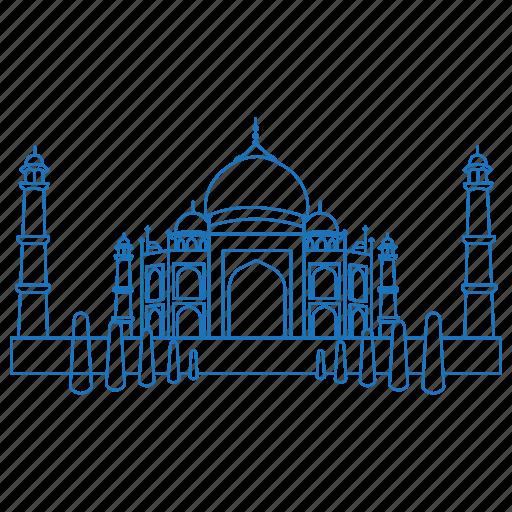 architecture, building, iconic, india, mausoleum, taj mahal, yamuna icon