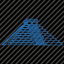 architecture, building, chichen itza, iconic, maya, mexico, uxmal icon