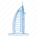 architecture, building, burj al arab, dubai, hotel, iconic, united arab emirates icon
