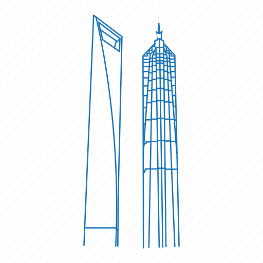 architecture, building, china, iconic, shanghai, skyscraper, world financial center icon