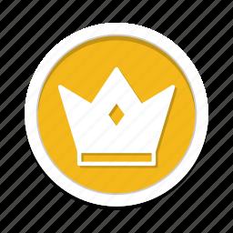 acheivement, awards, crown icon