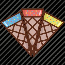 cone, cone ice cream, dessert, ice cream, refreshments, sweets icon