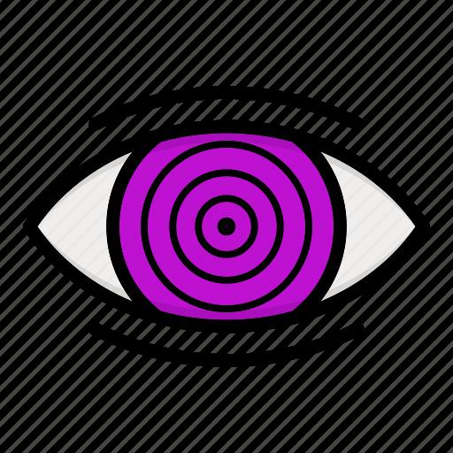 eye, naruto anime manga, paths eyes, rinnegan icon