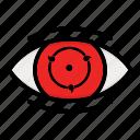 eye, kakashi, naruto anime manga, paths eyes, phase three icon