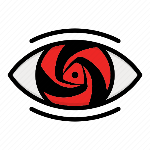 eye, naruto anime manga, paths eyes, uchiha eye icon