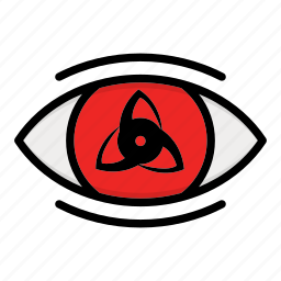 eye, naruto anime manga, paths eyes, uchiha icon