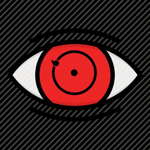 eye, kakashi, naruto anime manga, paths eyes, phase one icon