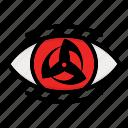 eye, kakashi, naruto anime manga, paths eyes icon