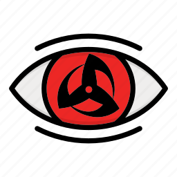eye, kakashi, naruto anime manga, paths eyes icon