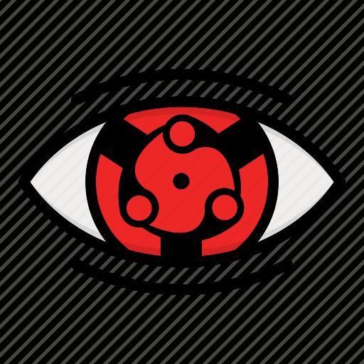 eye, madara, naruto anime manga, paths eyes icon