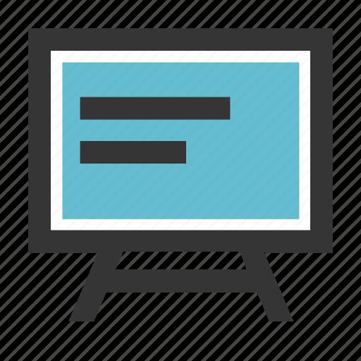 blackboard, canvas, education, presentation, school, whiteboard icon