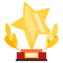 award, prize, quality, star, trophy icon